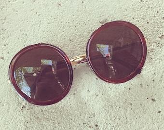 Retro round boho sunglasses