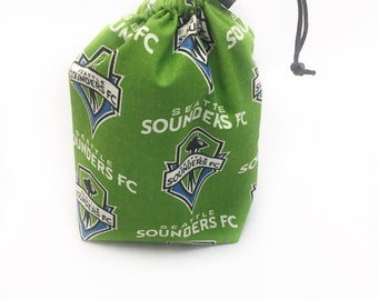 Sounders, Dice Bag, Draw String Bag, Free Standing, Revisable, Gamer Bag, D&D Dice Bag, Makeup Bag, Small Gift Bag, Pouch, RTS