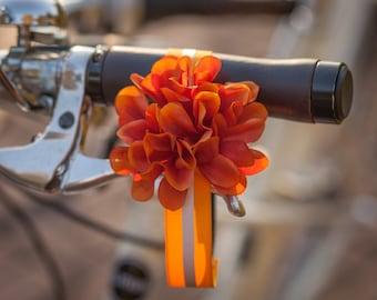Orange reflective flower ankle strap