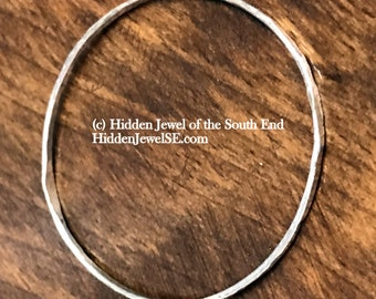 2mm Sterling Silver Bangle Hand Forged Hammered Sterling Bangle, stackable bangle, sterling bangle, thin hammered bangle bracelet (W107)