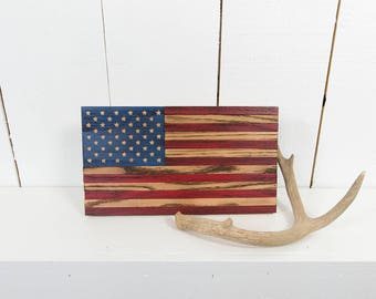 "6.5"" x 12"" WOOD AMERICAN FLAG - Liberty Flag Series"