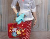 Rome in Red for Gene and Friends fashion dolls OOAK fashion doll clothing