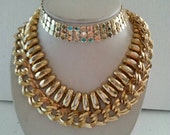 Vintage Gold Tone Necklaces Set of 3 Retro Collectible Costume Vintage Jewelry Lot