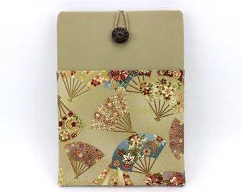 "iPad Air 1 Covers, iPad Pro 9.7"" Case, Tablet Case, Gift For Mom,  Kimono Cotton Fabric Sensu Ocher"
