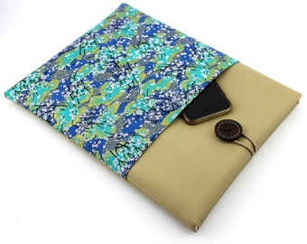 Kindle Paperwhite Cover, kimono Tablet Sleeve ereader Sleeve, Kindle Oasis case, Cherry Blossoms Teal