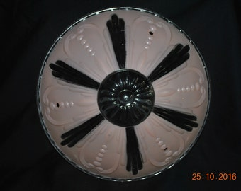 Vintage Ceiling Fixture in Pink and Clear Design