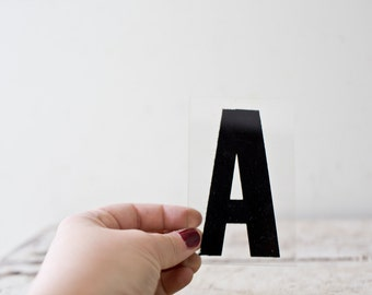 Vintage Letter A - Black Marquee Plastic Letter A Vintage Marquee Sign Vintage Sign A Sign