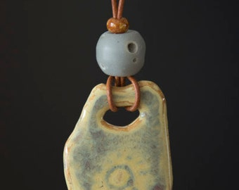 "Ceramic Necklace - Stoneware - 10"" -"