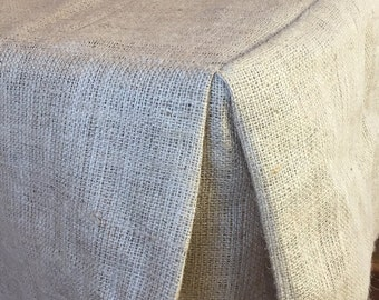 Burlap Table Cloth Fitted 10oz. Hydrocarbon Free  Square, Rectangle Or Rounds - SELECT A SIZE