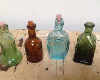 Vintage miniature bottles, set of 4