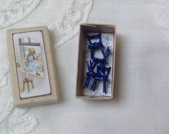 Reserved Boxed tiny chairs, dollhouse miniature, dollhouse Toy