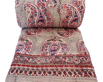Russin Paisley Ink - Twin 70 x 108 - 100% cotton, reversible quilt.