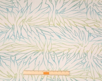 Two 20 x 20  Custom Designer Decorative Pillow Covers for Indoor/Outdoor -  Abstract Leaves - Blue/Green