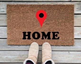 You Are Here Doormat, Cute Doormat, Funny Doormat, Wedding Gift, Closing Gift, Housewarming Gift, Welcome Mat