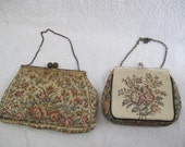 Tapestry clutches (pair) / Le Marquise tapestry clutch / Gorwood purse