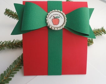 Teacher Gift Card Holder, Christmas Gift Card Holder for Teacher