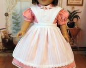 Civil War Dress and Apron for 18 inch Dolls like Marie Grace, or Cecile, or Addy