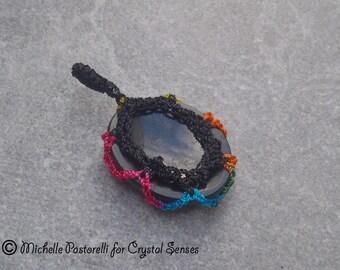 Black Tourmaline Worry Stone Pendant (WSPBT0010)