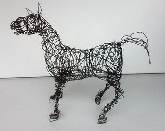 Unique Wire Horse Sculpture - HAPPY NEIGH