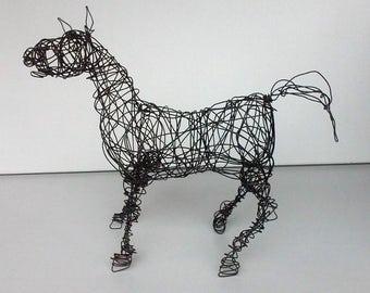 Unique Wire Horse Sculpture
