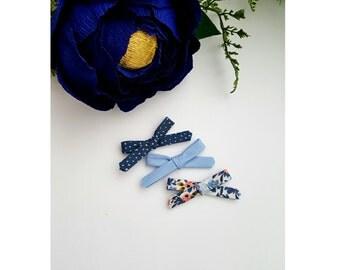 Blue bow {set}