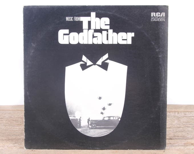 Vintage 1972 The Godfather Record / Antique Vinyl Records / Old Records Music Party Decor / Movie Room Decor / Rock Country Pop