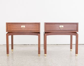 Pair Mid Century G Plan Nightstands / End Tables