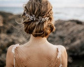 "Haarschmuck, Tiara, Gold Krone, Brautschmuck, Boho Haarband, Headpiece Style  ""Luna"""