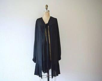 1920s open front jacket . vintage 20s silk jacket