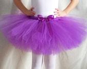 Purple Tutu, Princess Birthday Party, Baby Shower Gift, Birthday Outfit, Grape Tutu, Photo Shoot, Royal Tutu, Toddler Baby Girls Tulle Skirt