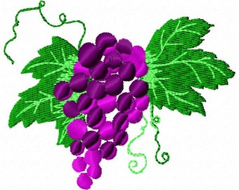 Grapes Embroidery Design - Instant Download