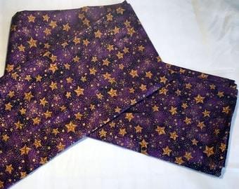 Royal Purple Tarot Spread Cloth - Star Cloth, Tarot Cloth, Celestial, Astrology, Crystal Grid