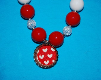 Girls Chunky Heart Necklace