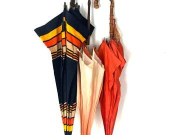 Vintage Umbrella with wooden handle