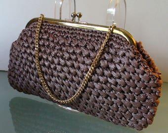 Vintage Forsum Raffia Handbag Handmade in Japan