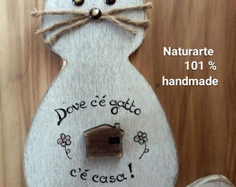 """Keyhanger Cat """"Home is where cat is"""""""