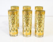 Hey Goldie 22Kt Culver Valencia Tumblers, Moroccan Style Glassware