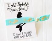 Mermaid Bachelorette Party Favor, Mermaid Hair Tie, ponytail  Mermaid of honor, mermaid bride, beach Bachelorette , Bridesmaid, hangover kit