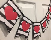 Red Heart Banner, Be Mine Party Banner, Engagement Banner, Valentine's Day Banner, Love Banner, Valentine's Day Sign, Garland