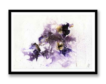 Brown and Purple abstract // Original one of a kind art work // Abstract Ink Painting // Wall Art // Office Art // Corporate Art