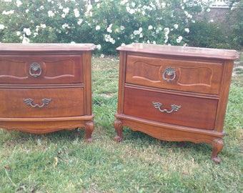 Vintage Nightstands Antique Bed Side Tables Found By Foo Foo La La
