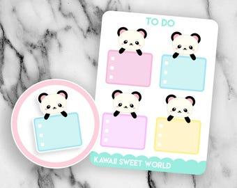 Peeking Panda To Do | Planner Sticker Sheet
