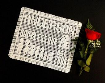 Family Personalized Doily Crochet Pattern #701 - Personalized Name Doily Crochet Pattern - Instant Download PDF