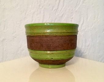 Aldo Londi BITOSSI Italy chartreuse & coffee Planter / Vase / Bowl