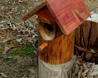 Cedar Wood Birdhouse Outdoor Summer Decor  Valentine Day