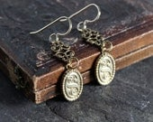 Antique cufflink earrings...