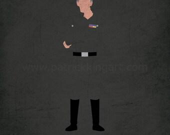 Star Wars A New Hope - The Overseer - Grand Moff Tarkin Art Print - poster, empire, death star, star wars, minimalist