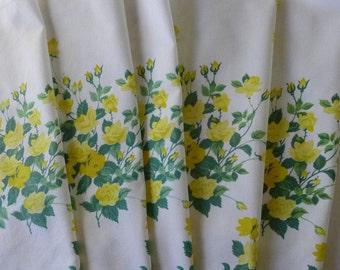 Vintage Yellow Roses Napkins WIlendur Yellow Princess Cloth Dinner Napkins set of 6