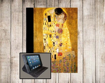 Klimt The Kiss iPad Air iPad 2 iPad 3 iPad 4 iPad Mini Monogram Case Folio Cover Adjustable Angle Stand Notebook Cover