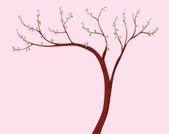 Nursery wall decal / wall decals / wall stickers / girls wall decals / Cherry Blossom tree decal / vinyl wall decal / Tree wall decal